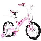 ZXUE Bicyclettes pour enfants 2-12 ans bébé enfant pédale vélo garçon fille bébé transport (Couleur : Rose, taille : 12 pouces)