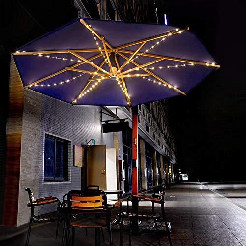 Ritioner Solarschirm Lichterketten 104 LED Lichterketten 8 Lichtermodus Wasserdichtes Licht Garten Außenbereich Weiß für Gartenschirm, Marktschirm, Balkon Sonnenschirm Led Beleuchtung