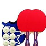 xianw Profi Tischtennis SCHL?ger Advanced Trainning ping Pong SCHL?ger mit Tragetasche, 7 ply h?lzerne Klinge mit Langen Griff-B