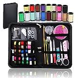 BoRui 58pcs kit de costura,caja de la costura portátil para el hogar, accesorios de costura del hogar del mini para el hogar, recorrido y uso de la emergencia (negro)