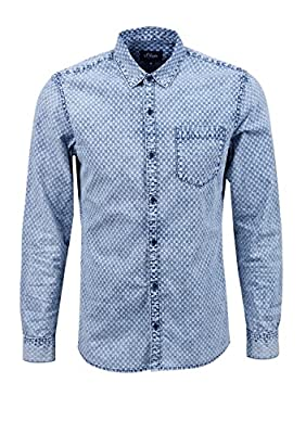s.Oliver Denim Men's In Jeansoptik Long Sleeve Leisure Shirt