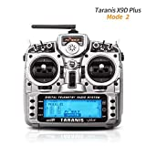 LITEBEE Frsky Taranis X9D Plus Radiocomando RC Trasmettitore 16 Canali a 2.4GHz ACCST RC Transmitter for Droni Quadricotteri FPV Racing RC Drone Quadcopter by (Mode 2 Acceleratore a Sinistra)