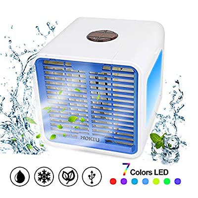 MRSMR Portable Air Conditioner, 3-in-1 Small Air Conditioner Humidifier Purifier Air Condition Cooler Portable Desktop Air Conditioning for Home Office Outdoor
