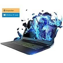 Gaming Laptop Kiebel Lightning 8.0 Pro (17.3 Zoll 43.9cm) Gamer Notebook mit nVidia GeForce GTX 1070 8GB, Intel i7 8750H 6x2.2GHz (Turbo bis 4.1GHz), mit G-Sync - Komponenten frei wählbar: bis 32GB DDR4, bis 2TB Samsung 970 M.2 SSD, individuell zusammenstellbar mit Konfigurator