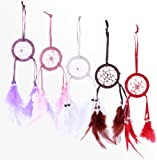 Small Dream Catcher With Feathers And Beads