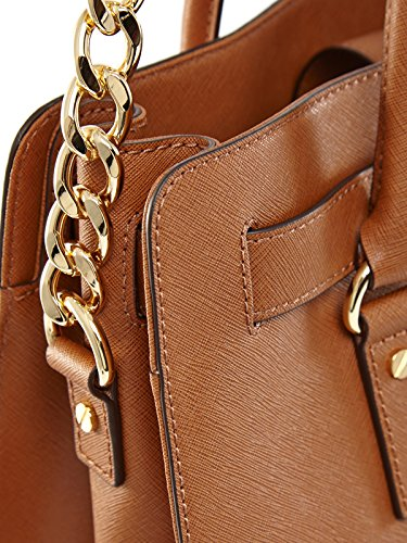 Michael Michael Kors Hamilton Large North South Tote Femmes Cuir Luggage