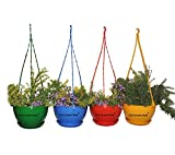 #6: First Smart Deal Plastic Hanging Pot (Multicolour, Pack of 4)
