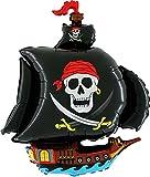 32' Schwarzer Pirat Schiff Supershape Folie Ballon (CS73)