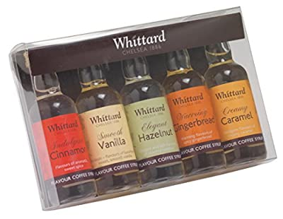 Whittard of Chelsea Coffee Syrup Gift Set 50 ml (Pack of 5)