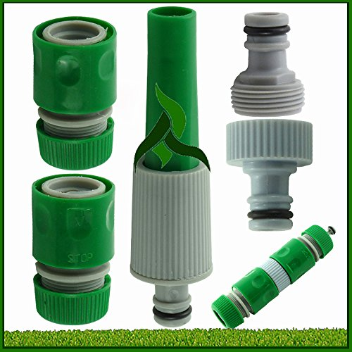 5 Piece Garden Hose Connector Set (Pack of 1) (color may vary)