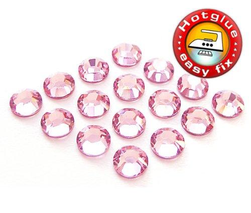 100 Stück SWAROVSKI ELEMENTS Hotfix, Light Rose (Rosa), SS10 (Ø ca. 2,8 mm), Strasssteine zum Aufbügeln (Hotfix Strasssteine Ss10)