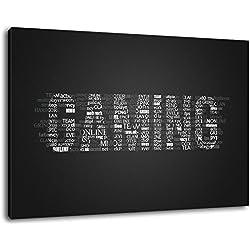 Gaming lettrage Format: 80x60 cm peinture sur toile-couverts, des images énormes XXL complètement finis et encadrées de civière, impression d'art sur la photo murale avec cadre, moins cher que la peinture ou la photo, pas d'affiches ou de l'affiche