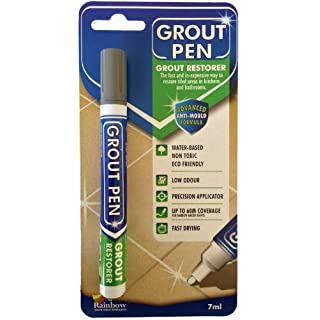 Grout Pen - Designed for Restoring Tile Grout in bathrooms & Kitchens (Grey)