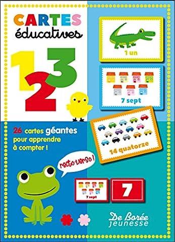 Cartes éducatives 1, 2, 3 : 26 cartes géantes pour apprendre à compter !