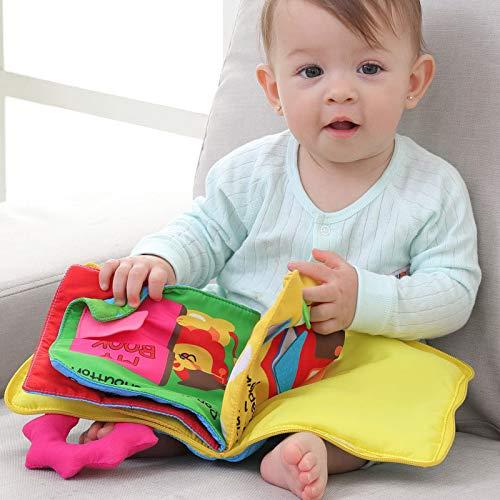 Dastrues Kid Chiffon Livre bébé Poussette Cognition Squeak Jouet Mignon Doux bébé Early Education Development Livre