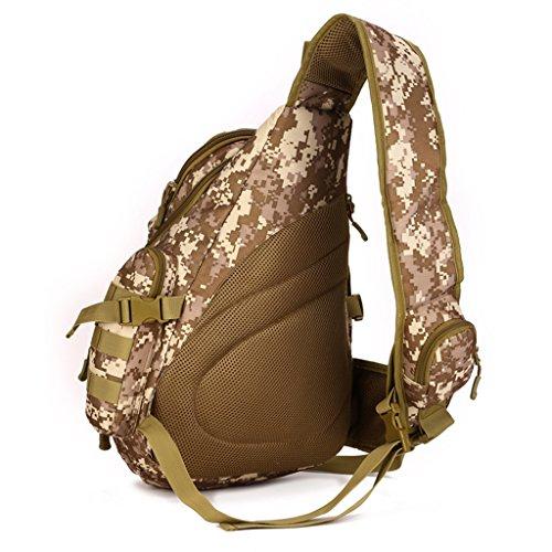 cinmaul singola spalla Crossbody petto Borsa caccia campeggio trekking Heavy Duty Corriere Militare Tattico Sport Sopravvivenza Pack, Uomo, Jungle Camouflage Desert Camouflage