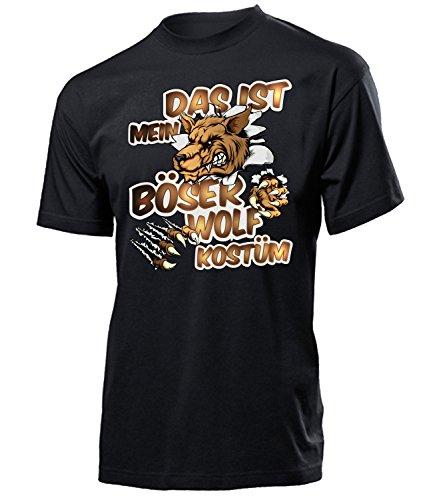 as ist Mein Böser Wolf Kostüm 1681 Herren T-Shirt (H-SW) Gr. L (Wolf Link Kostüm)