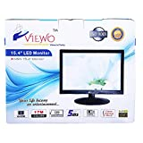 VIEWO 15.4 inch (39.11 cm) VPRO1 LED Backlit Computer Monitor - Full HD with VGA, HDMI Ports - ZEB-A16FHD LED (Black)