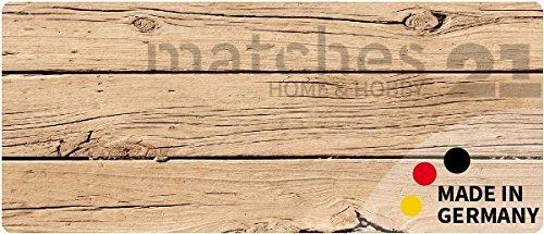 matches21 Küchenläufer Teppichläufer Teppich Läufer Holzbrett 50x120x0,4 cm Rutschfest machinenwaschbar Küchenvorleger