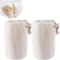ROSENICE Natural Exfoliante lufa Esponja del baño del depurador Pack de 2