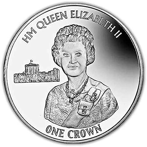 Îles Falkland 201690ème anniversaire Argent Monnaie Jubilee Portrait