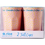 RICE Melamin Caffé Latte Becher gross Raindot 2er Set