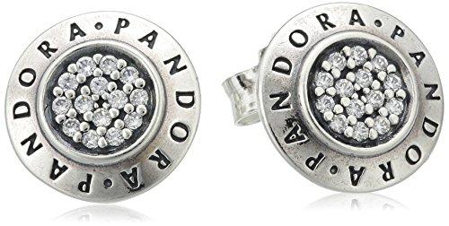 Pandora 290559CZ - Pendientes de plata con circonita