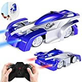 SGILE A- Wall Climbing Climber Toy-Dual modalità Rotazione di 360 ° Stunt Car Racing Nuovo Veicolo con Telecomando, Testa a LED Ricaricabile Gravity Defying, Gift for Kids Boy Girl, a-Blue