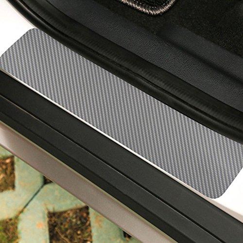 Leaftree - Car Door Sill Aufkleber Türschweller Decals Anti Scratch Plate Strukturierte Anti-Kick 3D Carbon Fiber Guard Cover (Halloween Vinyl Scratch)