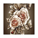 #8: Tomtopp 35*35 cm DIY 5D Diamond Retro Flower Painting Embroidery Home Decor Craft