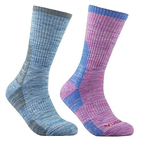 YUEDGE Women's Wicking Cushion Anti Blister Crew Socks Outdoor Multi Performance Hiking Trekking Running Walking Socks (2018 Newest Style)