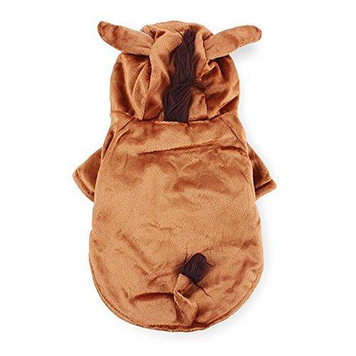 Bazaar Pet PFERD Stil Dick Warm Hund Katze Coat Jumpsuit Kostüm Winter (Kostüm Dick Big)