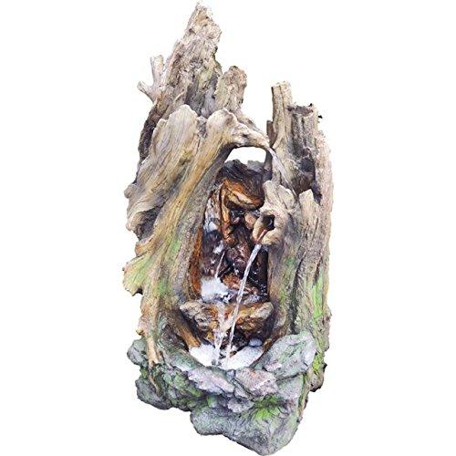 Granimex Gartenbrunnen Springbrunnen Wasserfall Lieche Pumpe LED Beleuchtung 511