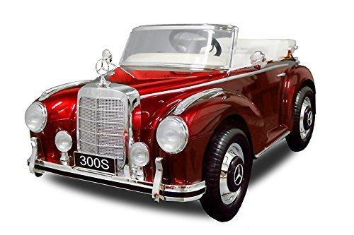 Lizenz Kinderauto Mercedes - Benz 300S 2x30W Motor Elektro Elektroauto Kinder MP3 (Metallic Rot) 1191133*