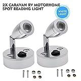 Innenleuchten - MASO 2x 12V LED Spot Leseleuchte Camper Van Caravan Boot Innenbeleuchtung