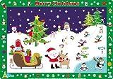 Little Wigwam - Frohe Weihnachten Platzdeckchen Platzset Tischset Für Kinder (Englisch)