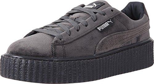 PUMA Womens Fenty by Rihanna Gray Creeper Velvet 36446603 Sneakers Shoes - Grau Puma Creepers