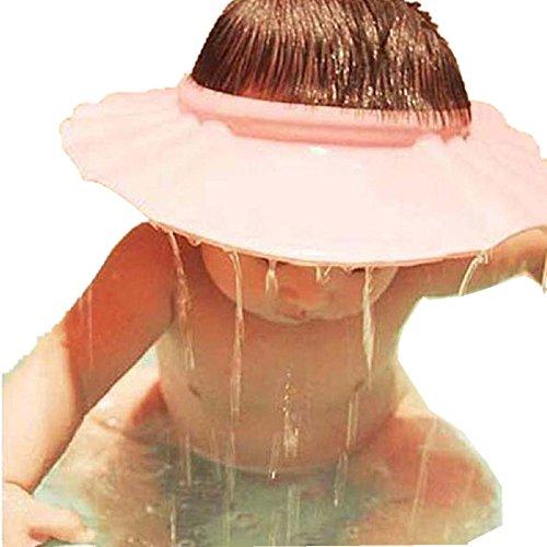 56bcc3a27100 QinMM Soft Cap Chapeau Shampooing Douche Bain, Sécurité Bain Protéger  Ajuster Doux Bébé Enfants (