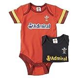 Wales WRU Rugby Baby 2er Pack Body - 2016