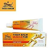 Baume du Tigre Pommade Muscle Rub Tube de 30g (Non-Gras) | Relaxante | Douleurs Musculaires Articulaires Massages et Bien-Etre | Tiger Balm | Thailande