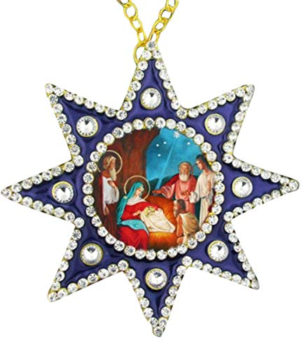 Weihnachten religi?se Ornament Geburt Christi 4 1/2 Zoll