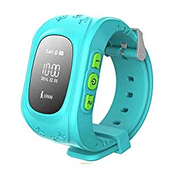 Superior Wonlex Kids Bright OLED GPS Tracker Watch Blue in attractive transparent plastic box
