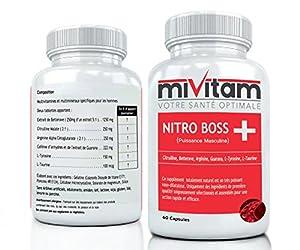 PUISSANT BOOSTEUR D'OXYDE NITRIQUE: Citrulline, Arginine, Guarana, Betterave