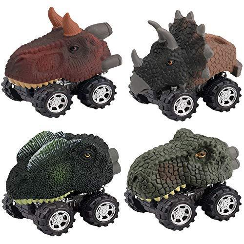 Wiki Dinosaur Toys 2-6 Year Old Boys Girls, Dinosaur Pull Back Car Kids Halloween Popular Birthday Presents Gifts 2-6 Year Old Boys Girls Stocking Suffer