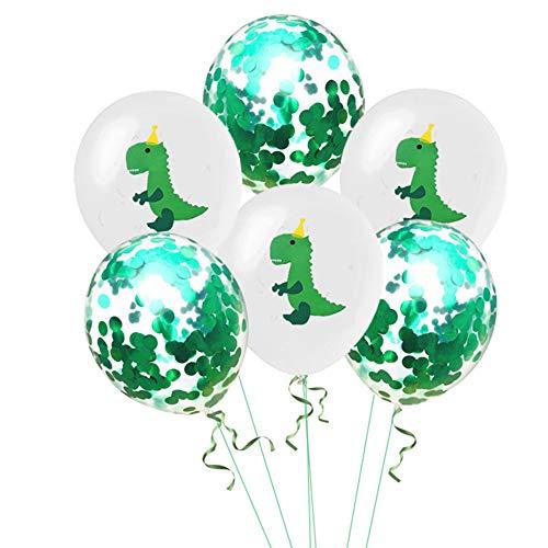 Tofree - 10 Globos de látex de Dinosaurio para decoración del hogar para niños, cumpleaños, Fiesta, Fiesta de Bienvenida de bebé