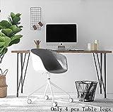 Metall-Tisch Beine, Haarspange Beine, läufig) (Satin schwarz)-(Set von 4), schwarz