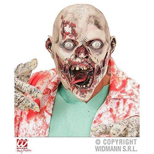 Vollmaske Madhouse Zombie / Zombiemaske / Halloween / (Vollmaske Zombie)