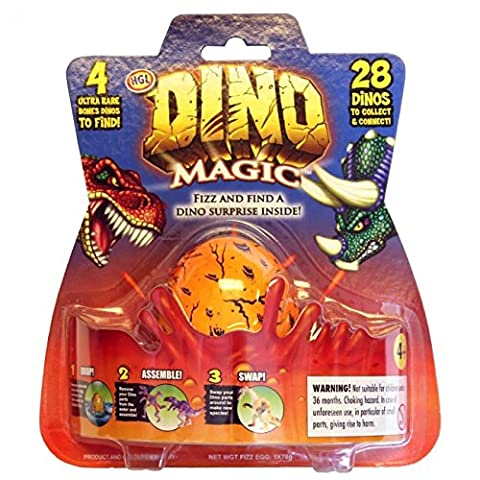 Magic Dinosaur Fizz n Suprise Growing Dino Egg Collectable Figures for Childrens Jurassic Toys Games & Gifts