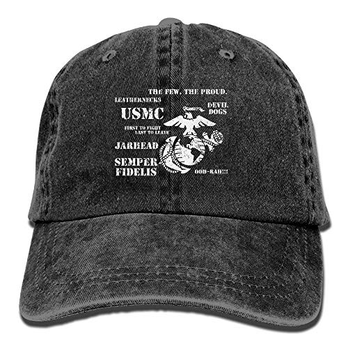 Nifdhkw Semper Fi US Marine Corps Dad Hat Adjustable Denim Hat Classic  Baseball Cap 573e436d7d8