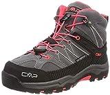 CMP Rigel, Stivali da Escursionismo Alti Unisex - Bambini, Grigio (Grey-Red Fluo), 35